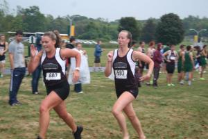 maggie and I finishing a race