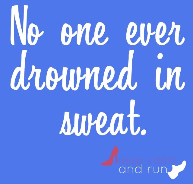 drowning in sweat
